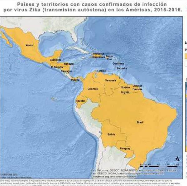 paesi contagio zika