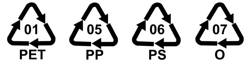 plastiche tossiche simboli
